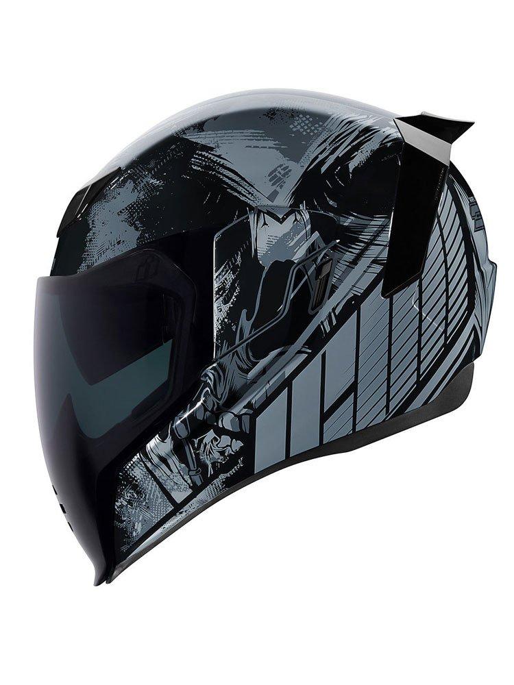 Full Face Makeup Tutorial Video: Full Face Helmet Icon AIRFLITE Stim Black Moto-Tour.com.pl