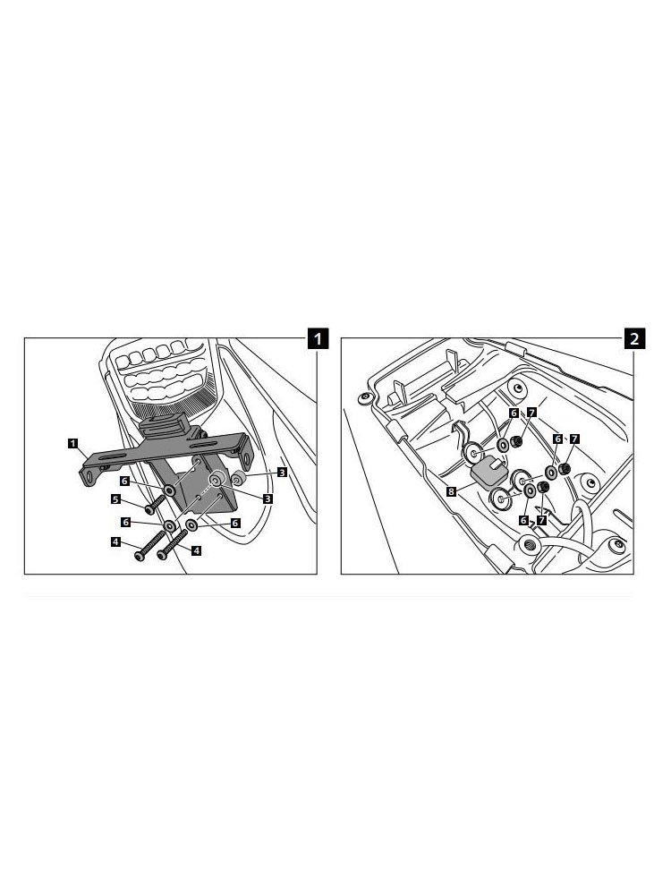 Product Eng 93528 Licence Support For Honda CBR 1000 RR 12 13 on Motorcycle Exhaust Systems