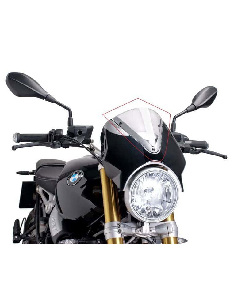 windshield naked new generation for bmw r nine t pure moto. Black Bedroom Furniture Sets. Home Design Ideas
