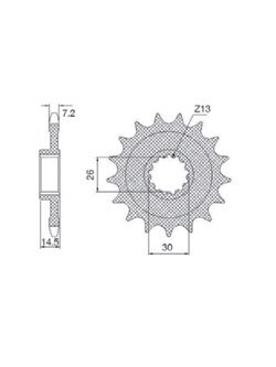 Front sprocket SUNSTAR 432 [17 tooth]