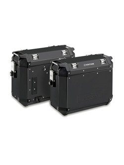 Pair of side-cases capacity 37 ltr Givi Trekker Outback Black