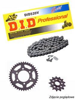 Chain D.I.D.520 V PROFESJONAL O-Ring [108 chain link] and SUNSTAR sprocket for Honda CB 300 F [15-16]/ CBR 300 R [14-16]