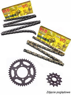 Chain D.I.D.520 VX2 PRO-STREET X-Ring [114 chain link] and SUNSTAR sprocket for Honda CTX 700 [14-16]/ NC 700 Integra [12-13]
