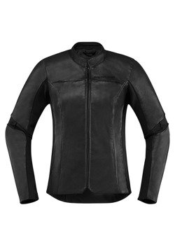 Icon Motorcycle Jacket Overlord Leather Women black