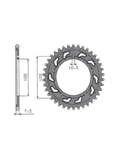 Rear sprocket SUNSTAR 1-4430 [42 tooth]