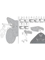 Zestaw GIVI do zamocowania stelaży PLX1102/ TE1102 bez stelaża pod kufer centralny 1102FZ Honda CBR 600 F/ Hornet 600/ ABS [11-13]