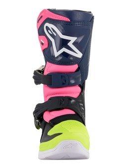 Buty off-road dziecięce Alpinestars Tech 3S czarno-granatowo-różowe fluo
