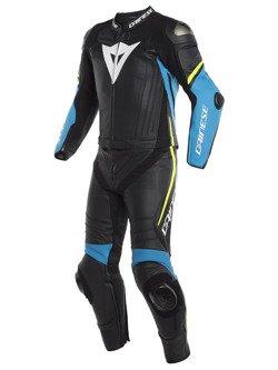 Motocyklowy kombinezon dwuczęściowy Dainese Laguna Seca 4 czarny / fluo