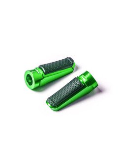 Podnóżki PUIG Sport z gumą (zielone)