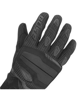 Rękawice motocyklowe teksylne Büse Fresh czarno-czerwone