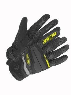 Rękawice motocyklowe teksylne Büse Fresh czarno-neonowe