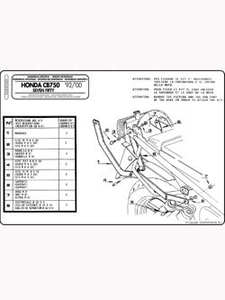 Stelaż pod kufer centralny MONOKEY i MONOLOCK  (Honda CB 750 Seven Fifty 92-00)