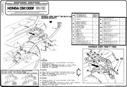 Stelaż pod kufer centralny MONOKEY i MONOLOCK (Honda CBR 1000 F 89-00)