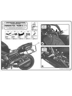 Stelaże Givi pod kufry boczne Monokey SIDE V35 i K33N do Yamaha FZ8 / Fazer 8 800 (10 -)