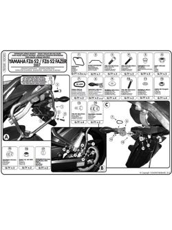 Stelaże pod kufry boczne Monokey SIDE V35 i K33N do Yamahy FZ6 S2 / FZ6 600 Fazer S2 (07 > 11)
