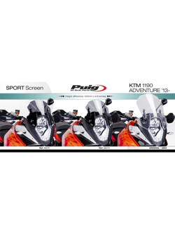 Szyba sportowa PUIG do KTM 1050/1090/1190 Adventure/R / 1290 Super Adventure/T