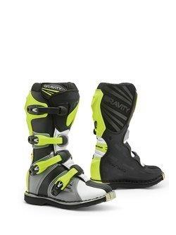 Buty enduro dziecięce Forma Gravity szaro-biało-żółte