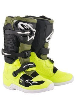 Buty off-road dziecięce Alpinestars Tech 7S czarno-zielono-żółte fluo