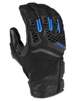 Rękawice motocyklowe Klim Baja S4 Glove czarno-niebieskie