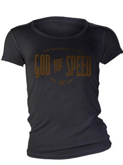 T-Shirt Damski John Doe God of Speed czarny
