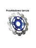 Tarcza Hamulcowa EBC VR817BLU VEE Rotor niebieska na przód. Średnica 320mm.